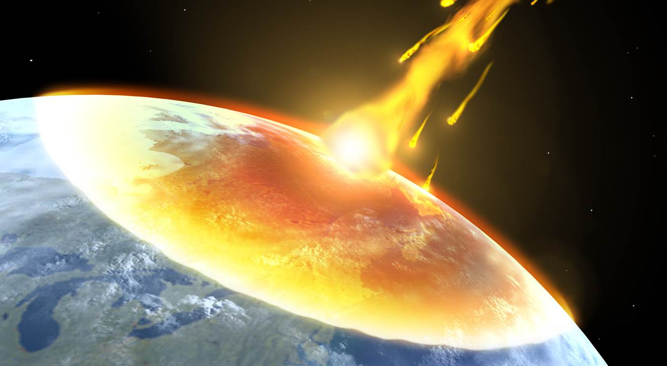 why does it when an asteroid hits earth the explode - photo #7